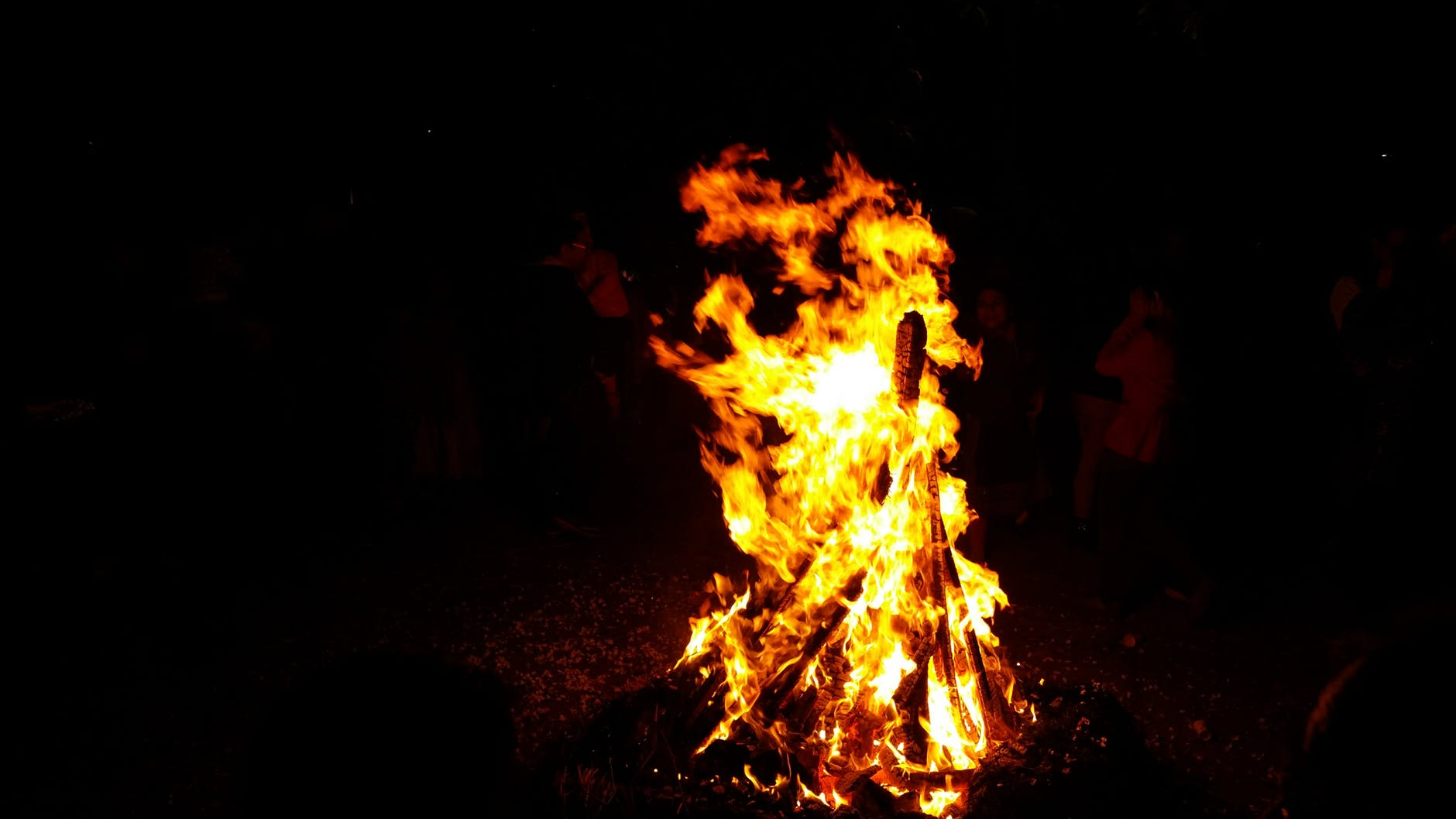 blaze blazing bonfire burn